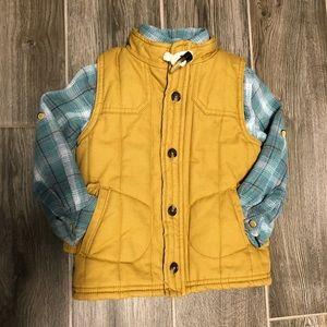 Oshkosh Vest & Button Up 2T/3T